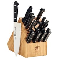 ZWILLING TWIN Gourmet Classic 18-pc Knife Block Set - Black/Stainless Steel