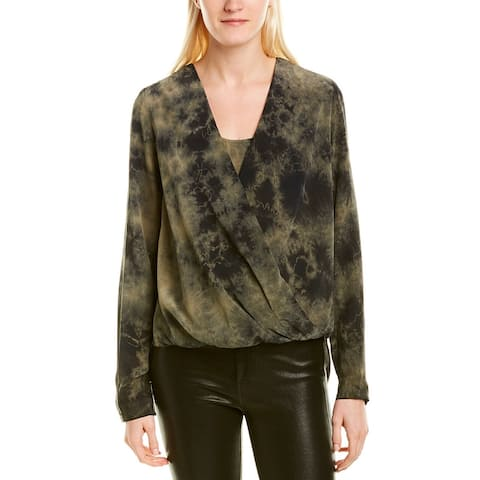 Fifteen Twenty High-Low Crossover Silk Top - TIE DYE