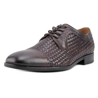 Steve Madden Creamer Men  Cap Toe Leather Brown Oxford