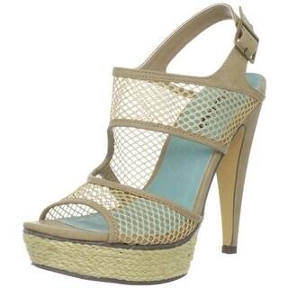 Michael Antonio Womens Tolleson Textured Espadrille Platform Heels - 10 medium (b,m)