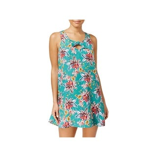 Be Bop Womens Juniors Party Dress Floral Print Crepe (2 options available)