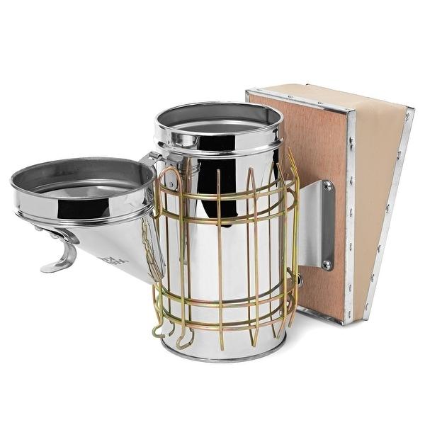 Bee Hive Smoker Stainless Steel Heat Shield Calming Beekeeping Equipment Tool