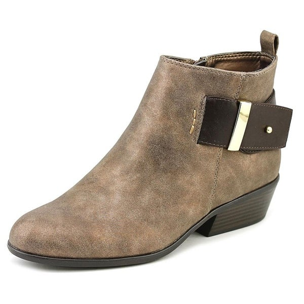 White Mountain Limerick Women Round Toe Synthetic Bronze Ankle Boot
