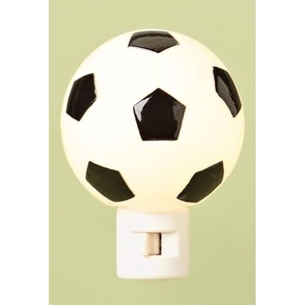 "4.25"" Sports Fan Soccer Ball Decorative Night Light - Black"