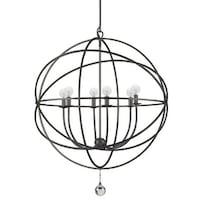 Crystorama solaris collection 5 light english bronze mini chandelier crystorama lighting group 9228 solaris 6 light 28 12 wide cage chandelier aloadofball Images