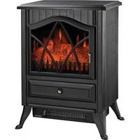 Homebasix ND-18D2S Electric Fireplace Stove/Heater with Thermostat, 750/1500W