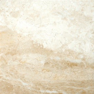 "Emser Tile M06MILA1818  Marble - 18"" x 18"" Square Floor and Wall Tile - Polished Marble Visual - Milano Beige"