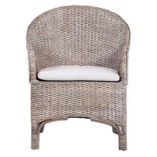 """Link to Safavieh Antonia Rattan Accent Chair with Cushion - 22"""" W x 26.8"""" L x 33.5"""" H Similar Items in Living Room Furniture"""