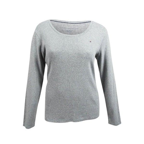 5de657da Shop Tommy Hilfiger Women's Long-Sleeve Logo T-Shirt - Free Shipping ...