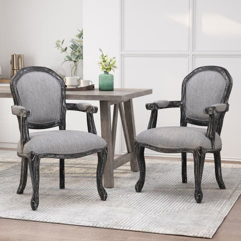 Baldner Upholstered Dining Chairs by Christopher Knight Home