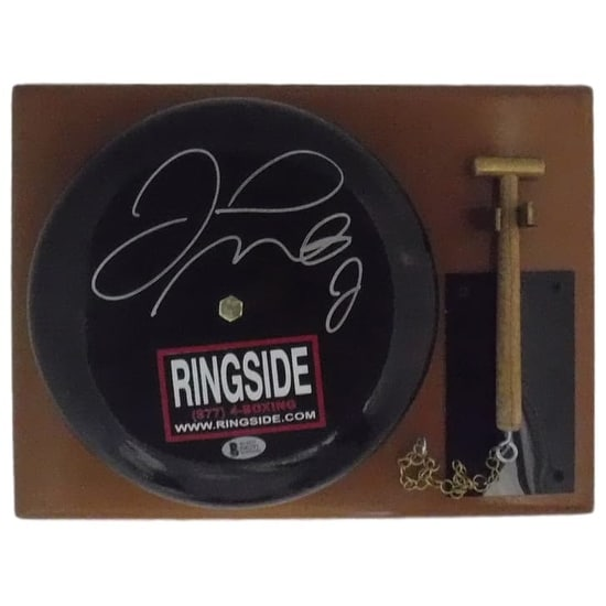 Floyd Mayweather Autographed Black Ringside Bell wHammer BEC