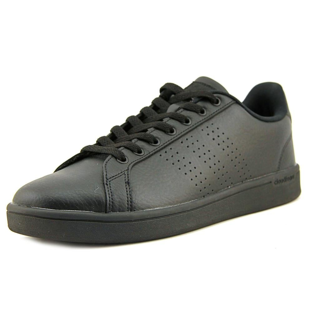 best website 05657 78190 Shop Adidas Cloudfoam Advantage Clean Men Round Toe Leather Black Sneakers  - Free Shipping On Orders Over 45 - Overstock - 19203386