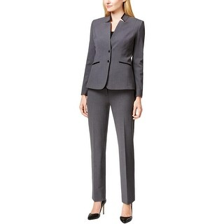 Tahari ASL Womens Pant Suit Heathered 2PC