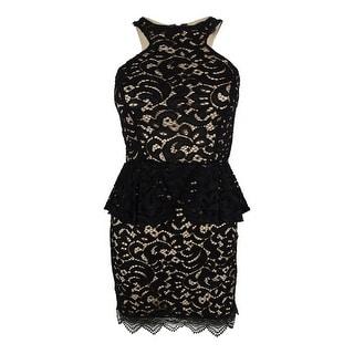 Material Girl Juniors' Sleeveless Lace Peplum Dress