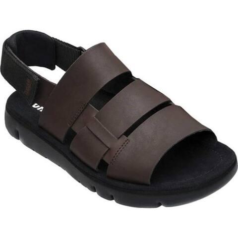 Camper Men's Oruga Sandal Dark Brown/Black Full Grain/Technical Fabric