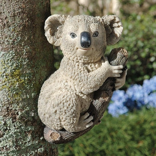 Design Toscano Kouta, the Climbing Koala Sculpture
