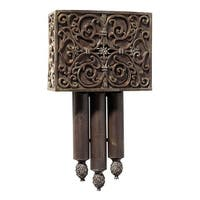 """Craftmade CA3  Premium Westminster 10.125"""" Wide Carved Door Chime - Hand-Painted Renaissance Crackle"""