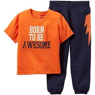 Carter's Baby Boys' Born to Be Awesome 2 Piece Pajama Set - (24 Months)