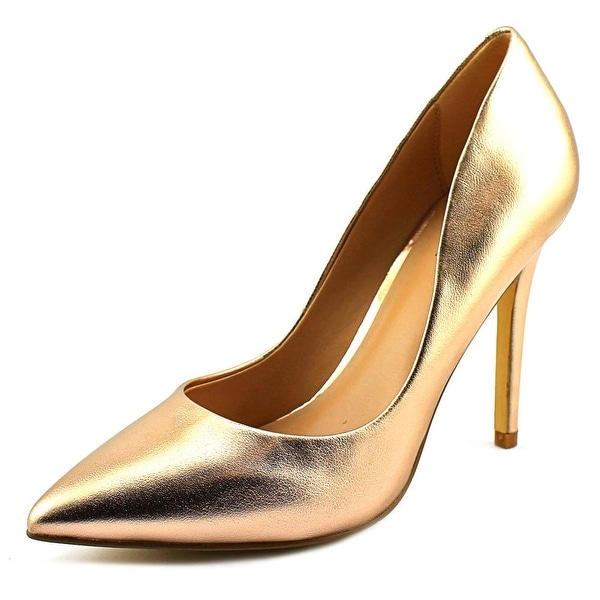 Charles By Charles David Pact Women Pointed Toe Leather Gold Heels