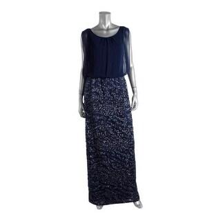 Aidan by Aidan Mattox Womens Chiffon Sequined Evening Dress - 12