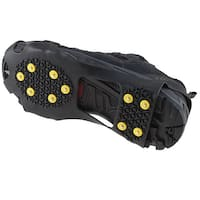 AGPtek Anti Slip Grip Shoe Covers Overshoes Snow Shoes Crampons Cleats for Ice Snow M