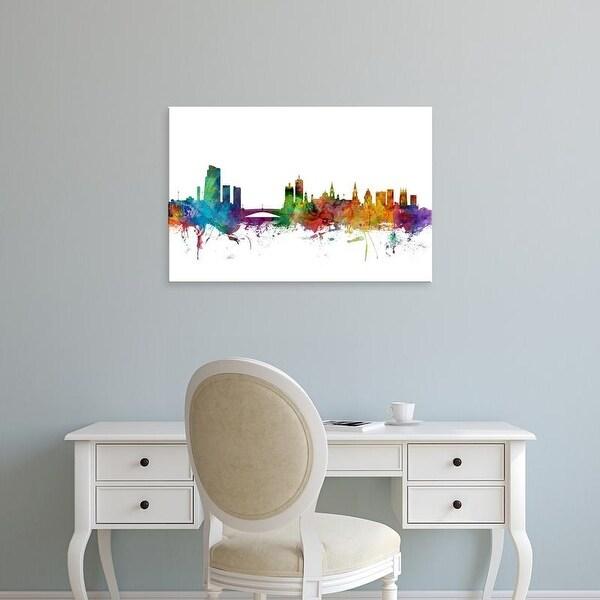 Easy Art Prints Michael Tompsett's 'Leeds England Skyline' Premium Canvas Art