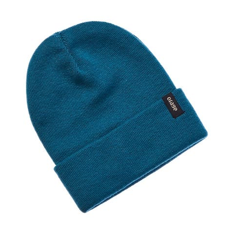 Orage Collie Teal Wool-Blend Beanie
