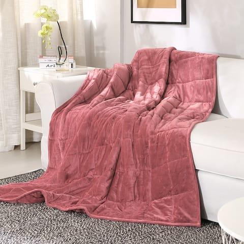 Sedona House Silky Velvet Weighted Blanket