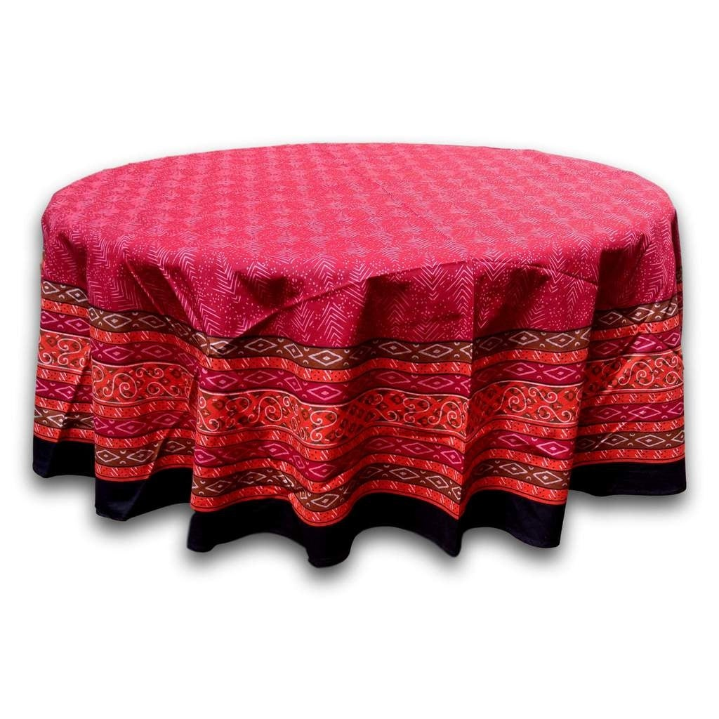 Beautiful Handmade 100% Cotton Calico Print Tablecloth Rectangle Square Round Napkins - Thumbnail 0