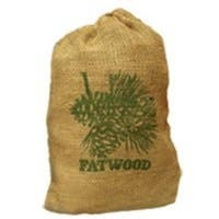 Fatwood 9908 Burlap Bag Fire Starter, 8 Lbs