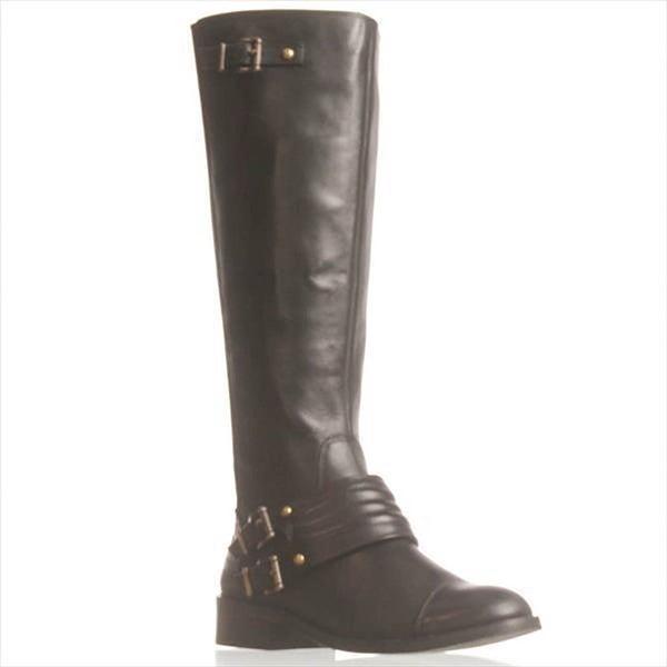 Jessica Simpson Elmont2 Wide Calf Riding Boots - Black - 4