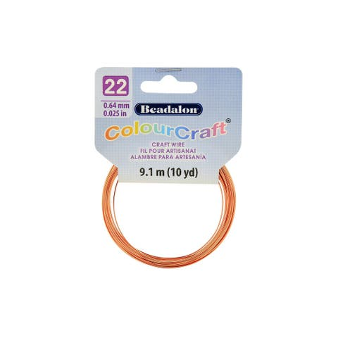 Beadalon ColourCraft Wire 22ga Copper 10yd