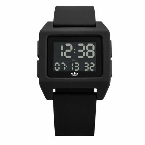 Adidas Men's Archive Sp1 Z15 001-00 Black Silicone Quartz Fashion Watch - Multicoloured