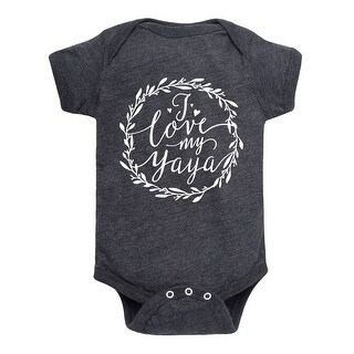 I Love My Yaya Script Floral Wreath - Infant One Piece