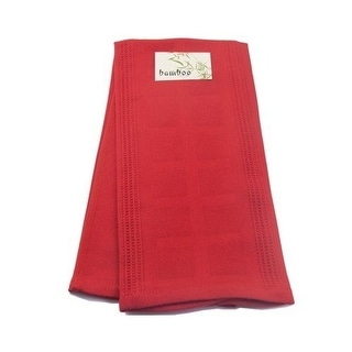 Gourmet Classics 02692RD Red Bamboo-Derived Rayon and Cotton Jacquard Towel