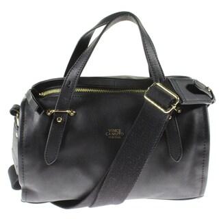 Vince Camuto Womens Cass Barrel Handbag Leather Sleek - small