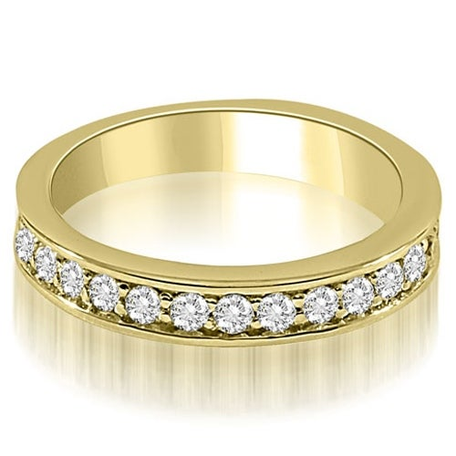 0.75 cttw. 14K Yellow Gold Round Cut Diamond Wedding Ring