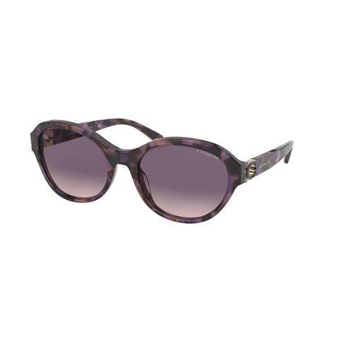 Coach HC8293 561236 57 Purple Tortoise Woman Oval Sunglasses