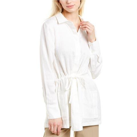 Donna Karan Linen Shirt Jacket