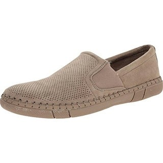 Robert Wayne Mens Road Faux Suede Perforated Loafers