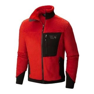 Mountain Hardwear Men's Dark Fire & Black Monkey Man 200 Jacket Large L Fleece