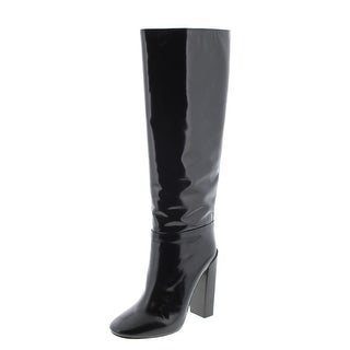 Chloe Womens Knee-High Boots Leather Round Toe - 8.5