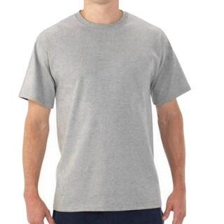 Fruit of the Loom NEW Gray Mens Size 3XL Crewneck Short-Sleeve Tee T-Shirt 283