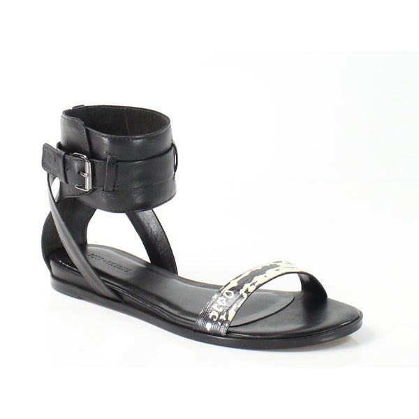 Pour La Victoire NEW Riko Black 8.5M Gladiator Leather Sandals