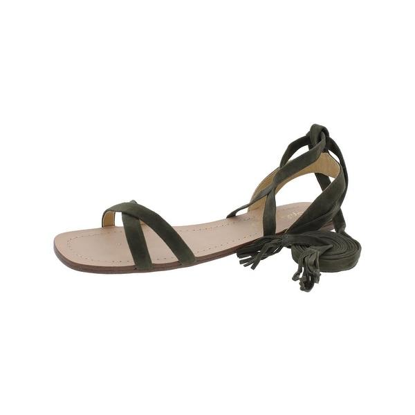 Splendid Womens Janelle Strappy Sandals Suede Fringe