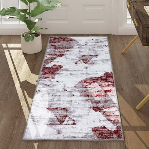 Modern Abstract Rug White Indoor Area Rugs