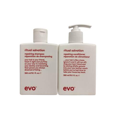 evo Ritual Salvation Repairing Shampoo & Conditioner Set 10.1 OZ Each - 10.1 - 15 Oz.