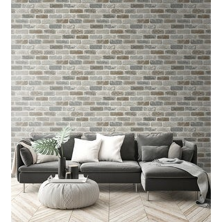 Link to NextWall Washed Brick Peel and Stick Removable Wallpaper - 20.5 in. W x 18 ft. L Similar Items in Wall Coverings