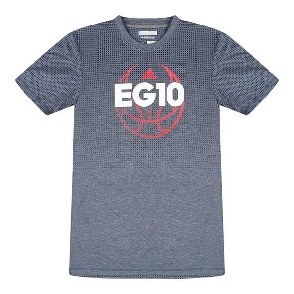 6c7f3685 Adidas EG10 Basketball Men's Grey Climacool T-Shirt Red Performance  Logo