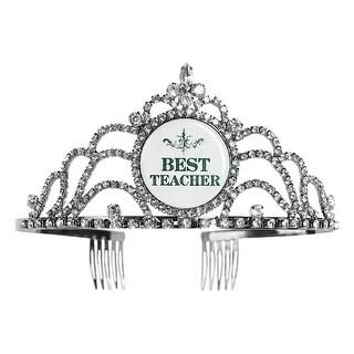 My Favorite Things Women's Rhinestone Tiara - Best Teacher Princess Crown Combs - One Size